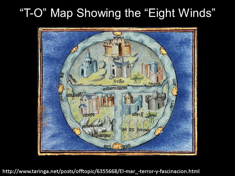 T-O Map Showing the Eight Winds