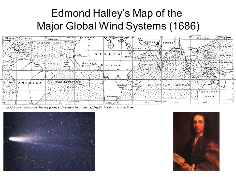 Edmond Halley's Map of the Major Global Wind Systems (1686)