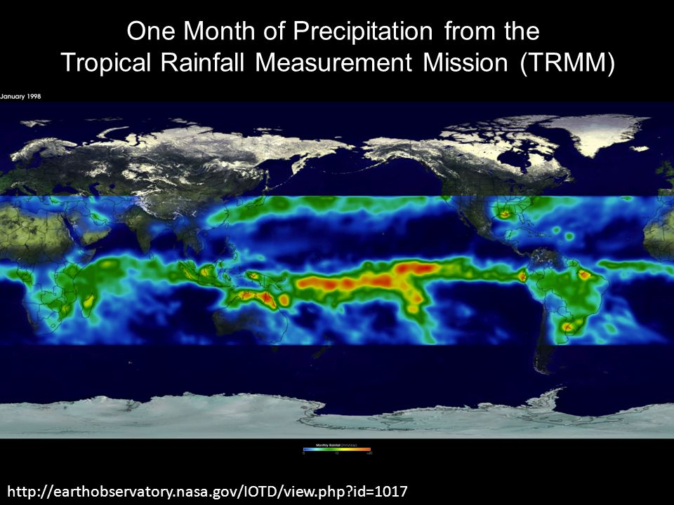 One Month of Precipitation from the
