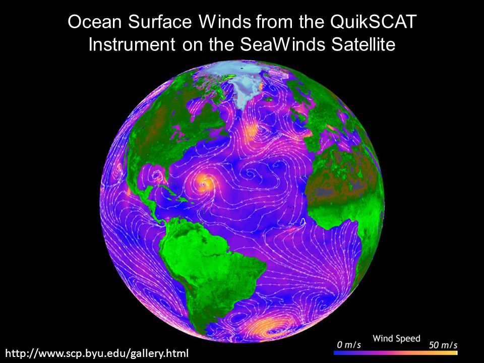 Ocean Surface Winds from the QuikSCAT Instrument on the SeaWinds Satellite