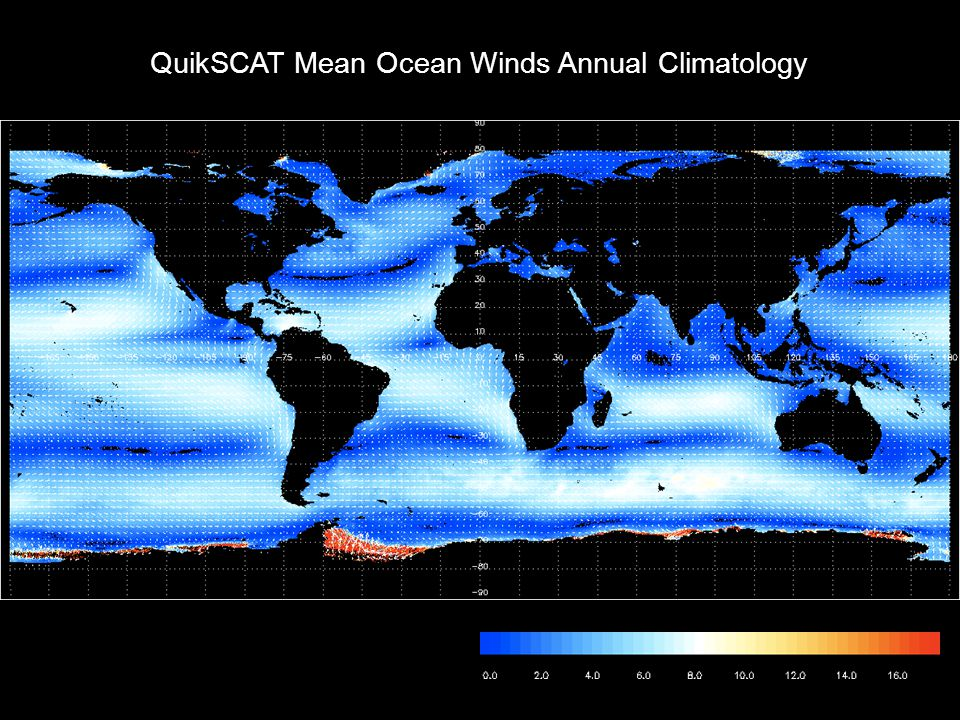 QuikSCAT Mean Ocean Winds Annual Climatology