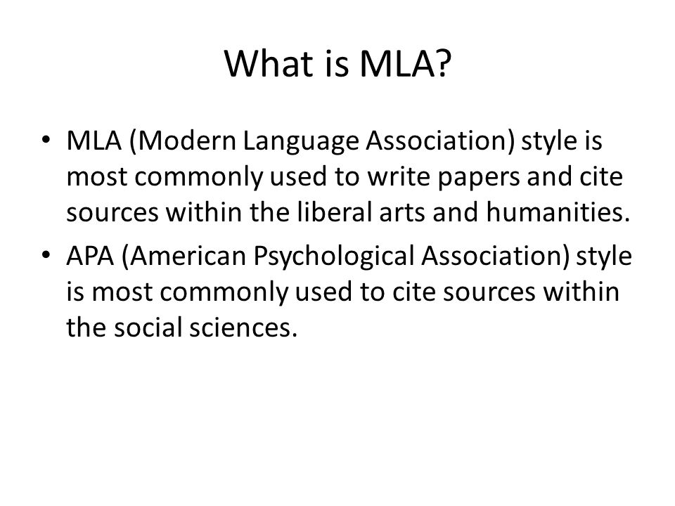 mla format citing sources