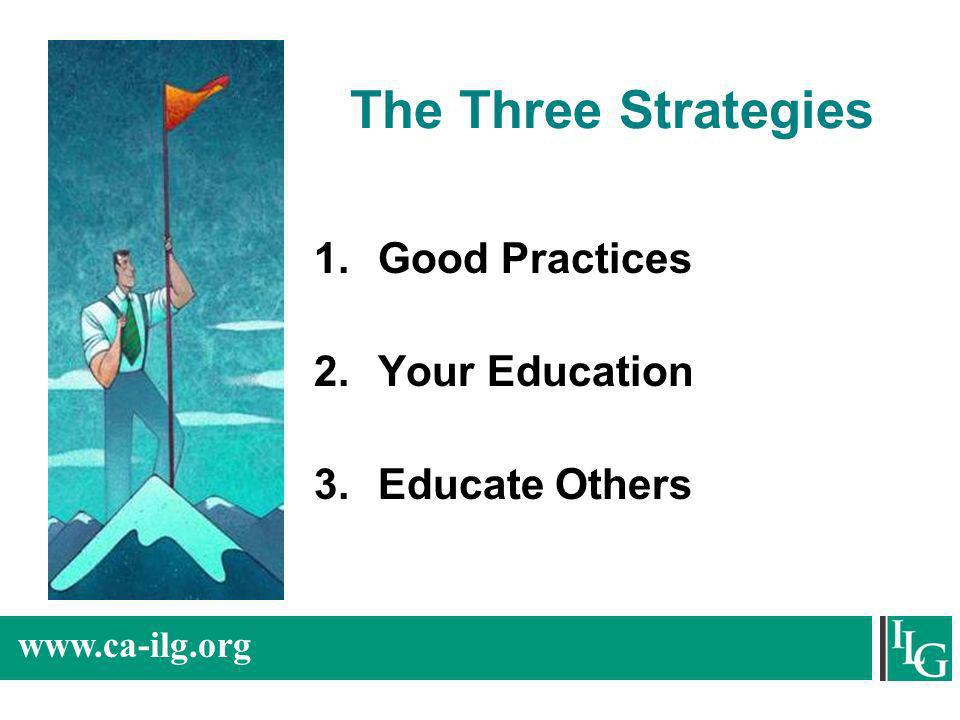 The Three Strategies Good Practices Your Education Educate Others