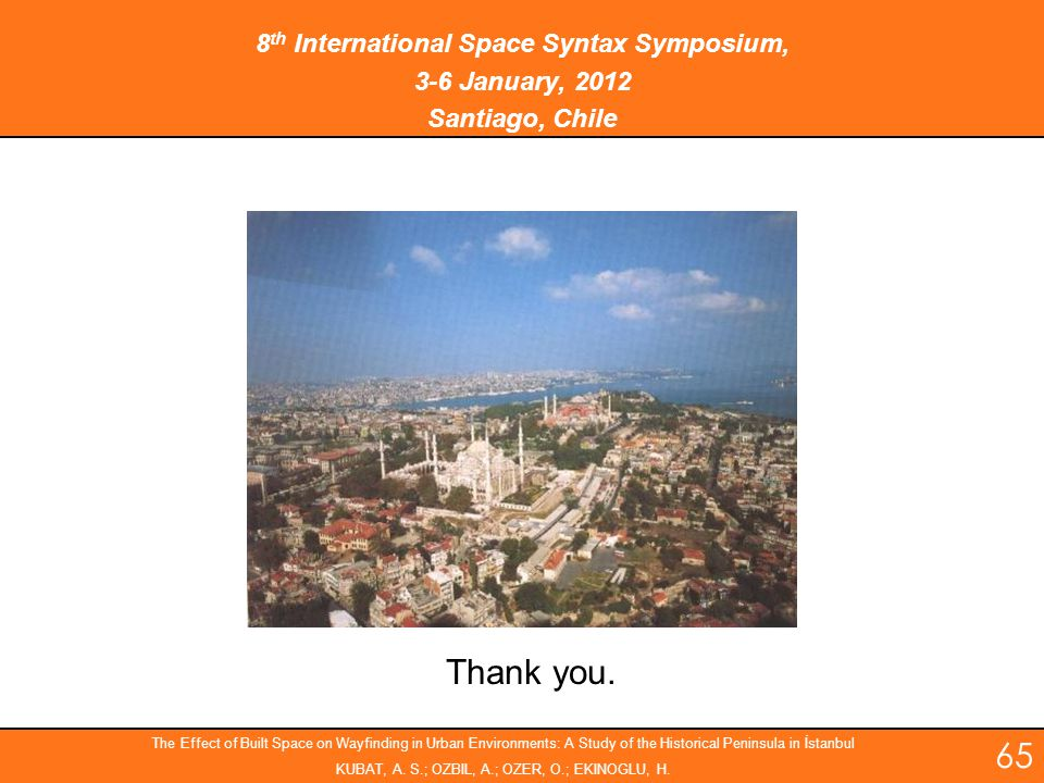 8th International Space Syntax Symposium,