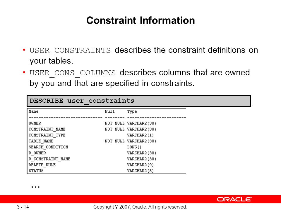 Managing Objects with Data Dictionary Views - ppt download