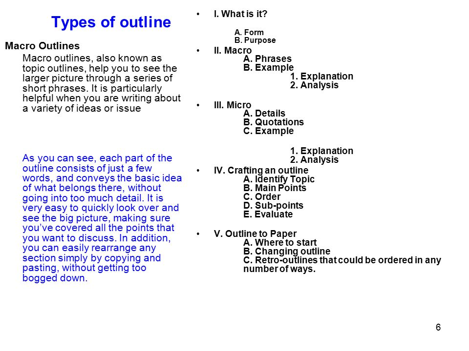 topic outline example
