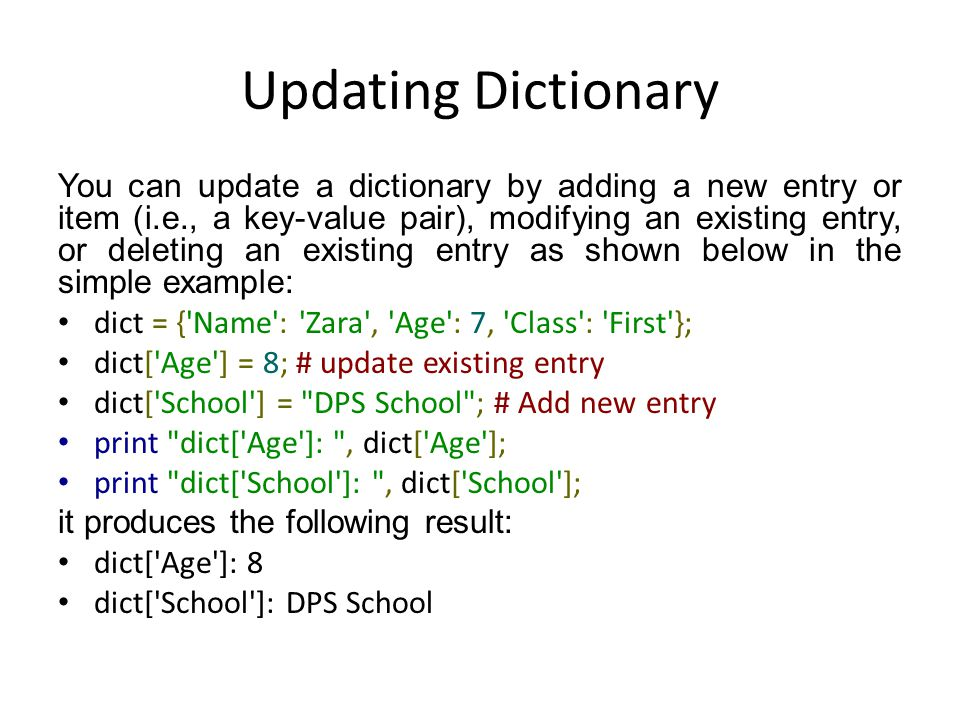 Python Dictionary Ppt Video Online Download