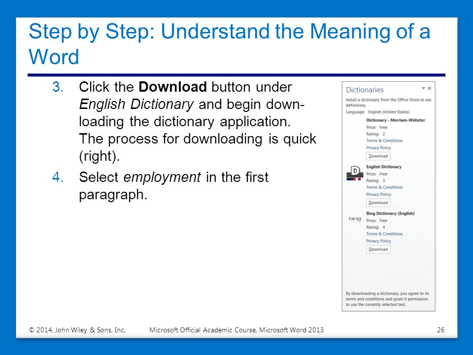Microsoft Official Academic Course, Microsoft Word ppt download