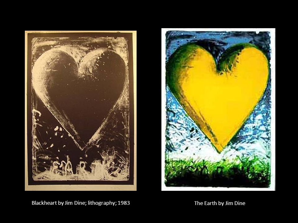 Blackheart by Jim Dine; lithography; 1983