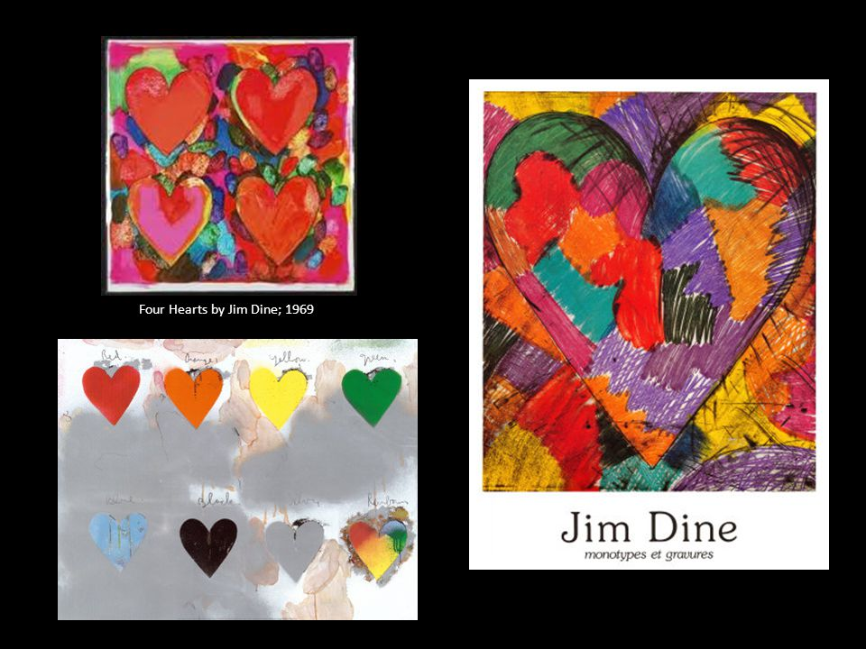 Four Hearts by Jim Dine; 1969