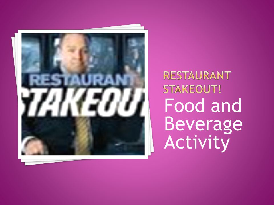 Food and Beverage Activity