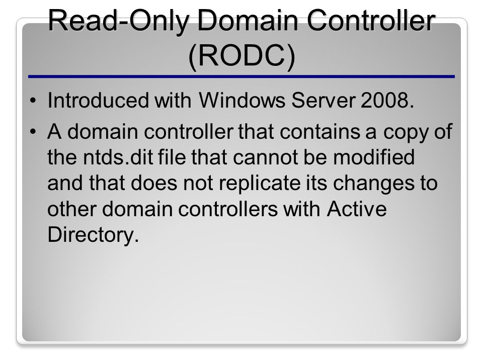 Overview of Active Directory Domain Services - ppt video