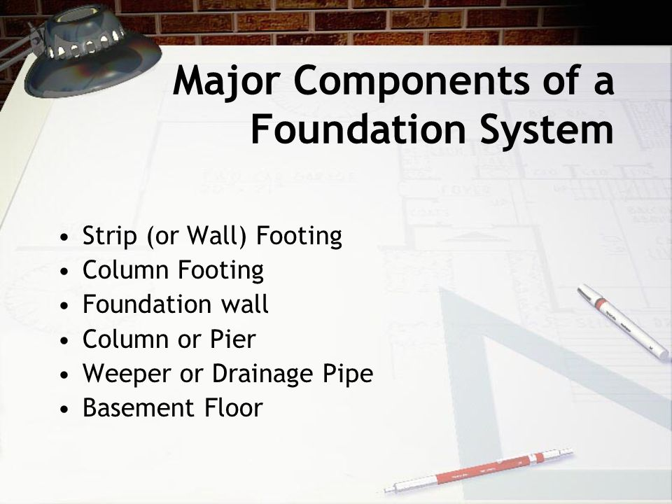 Major Components of a Foundation System