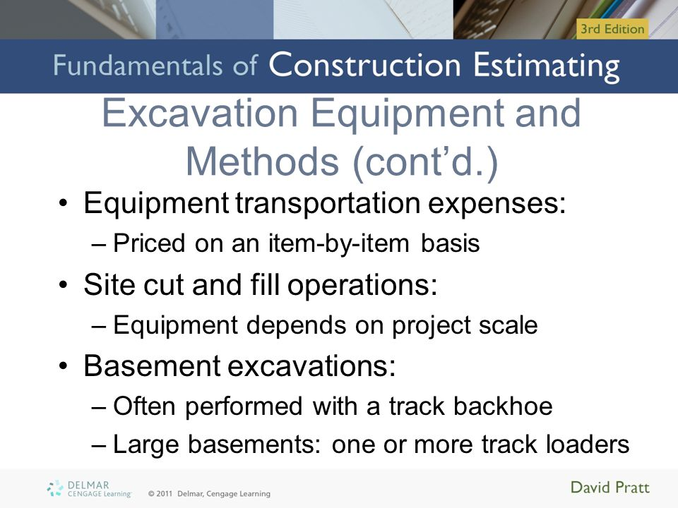 Pricing Excavation and Backfill - ppt video online download