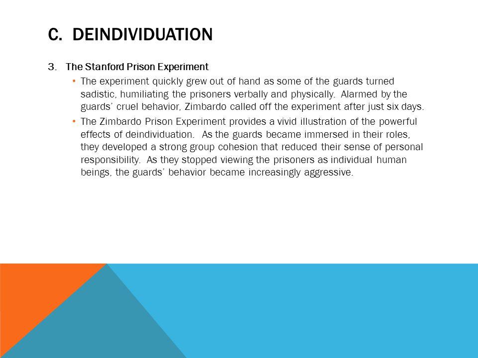 deindividuation experiment
