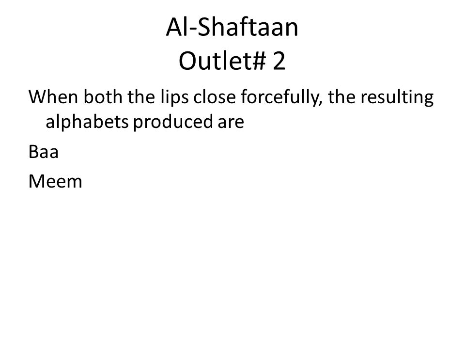 Outlets for Original Alphabets - ppt video online download