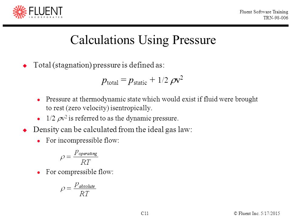 Calculations Using Pressure