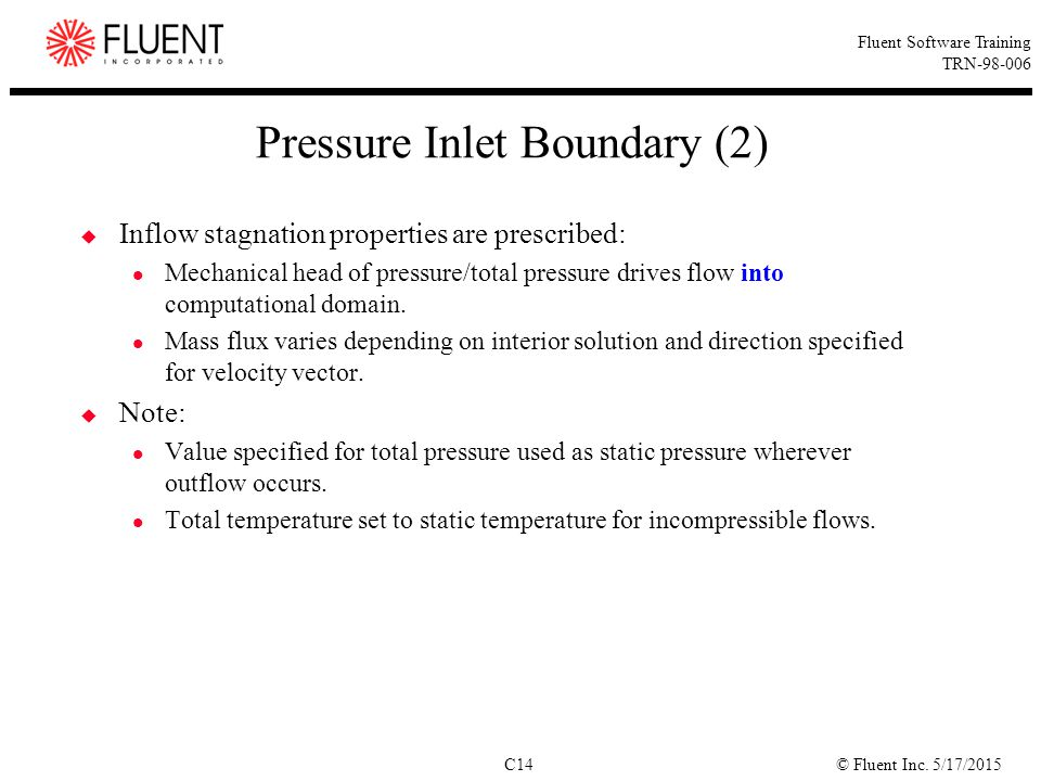Pressure Inlet Boundary (2)