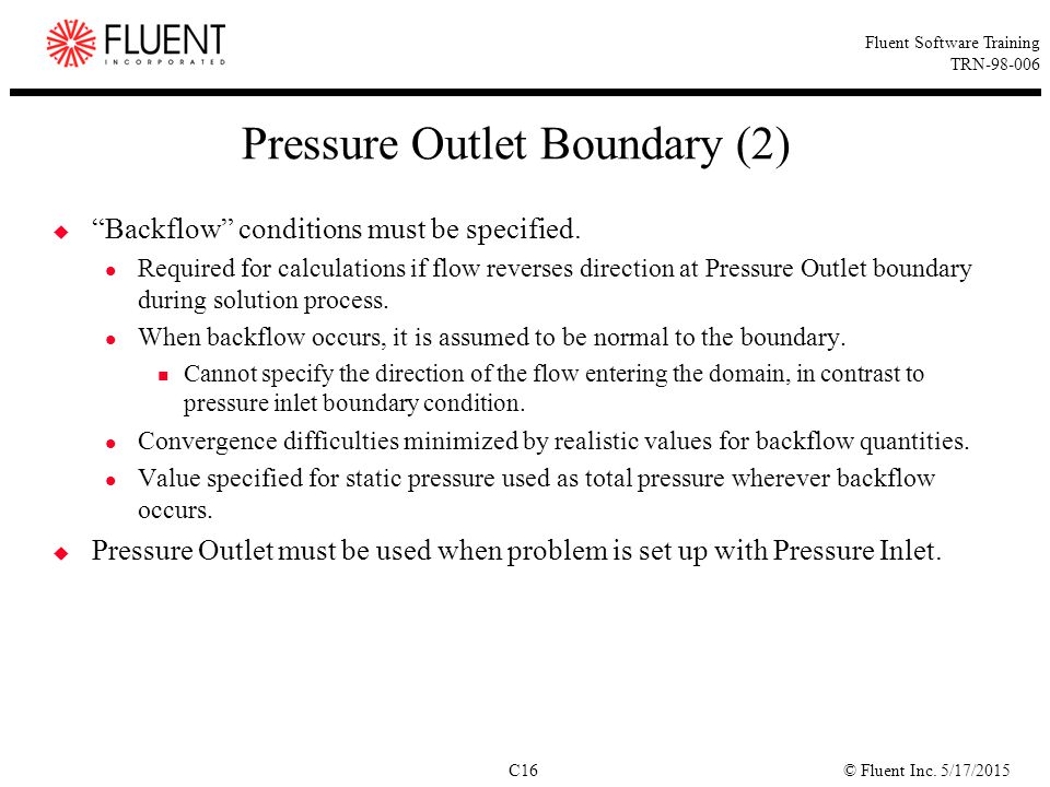 Pressure Outlet Boundary (2)