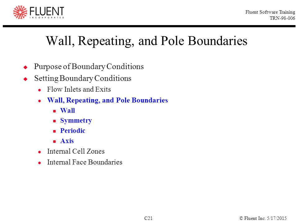 Wall, Repeating, and Pole Boundaries