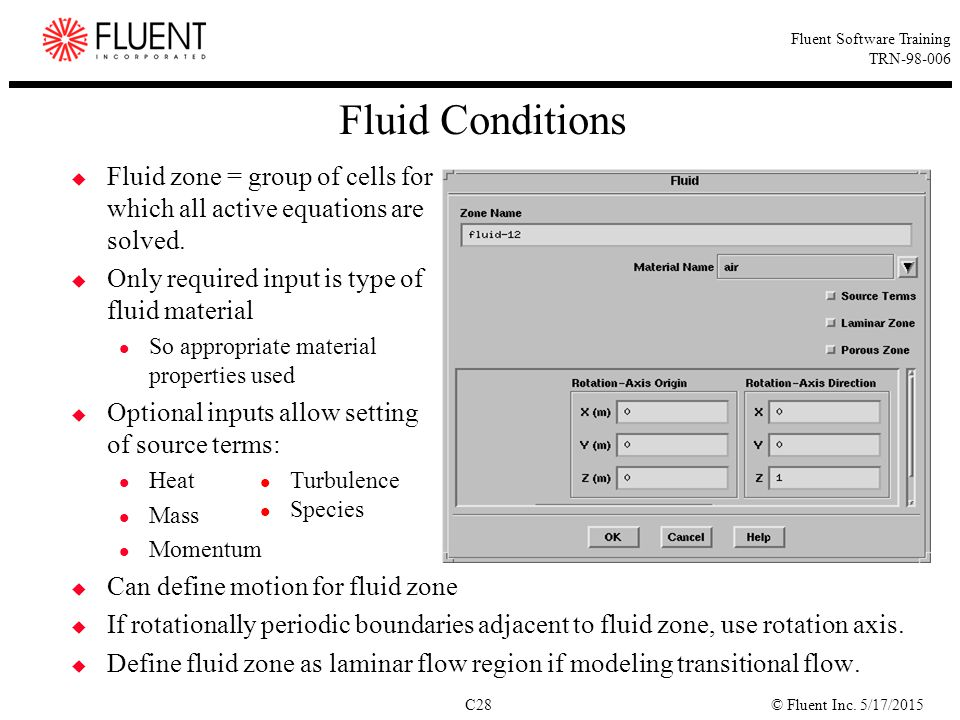Fluid Conditions