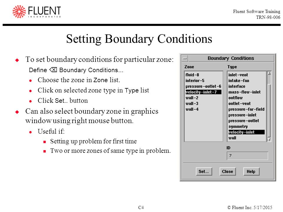 Setting Boundary Conditions