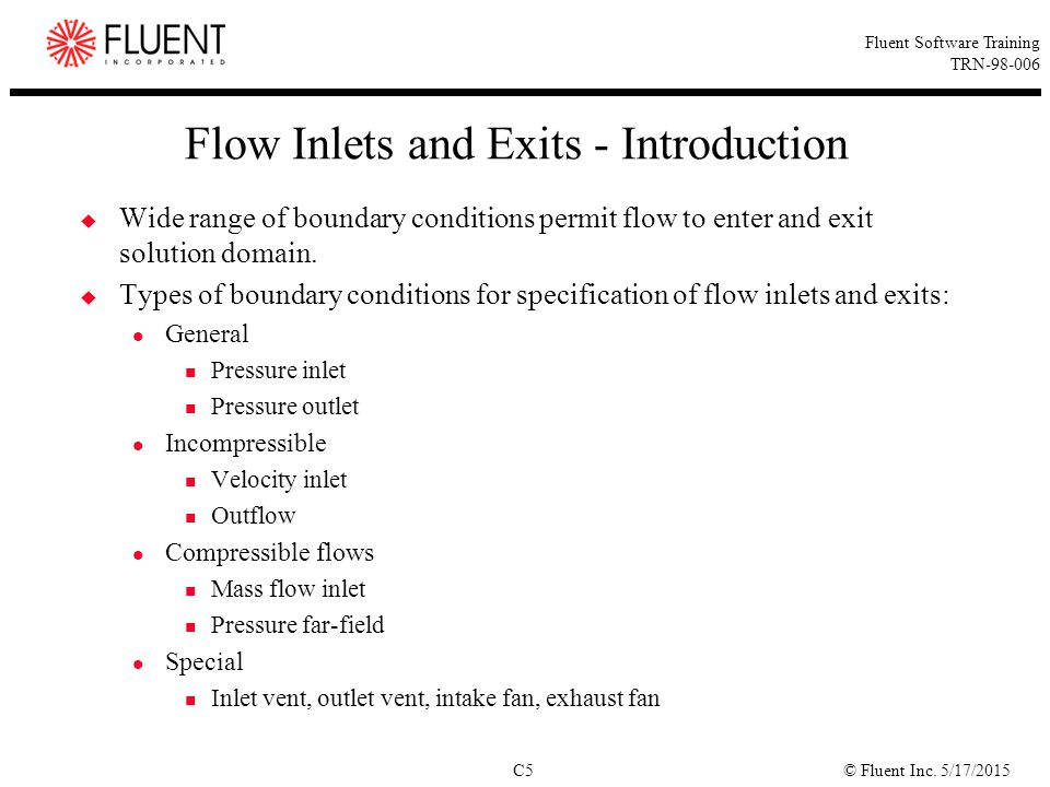 Flow Inlets and Exits - Introduction