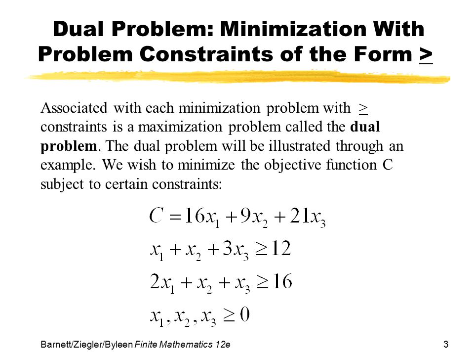 Chapter 6 Linear Programming: The Simplex Method - ppt video
