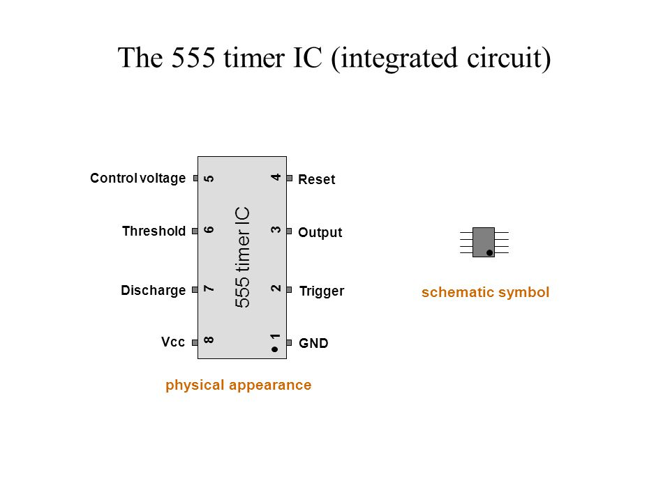 The 555 Timer IC Integrated Circuit