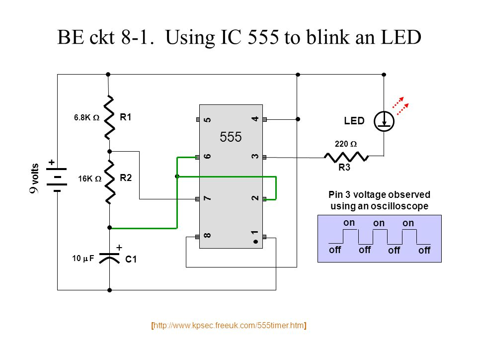 Timer circuits using 555 ic