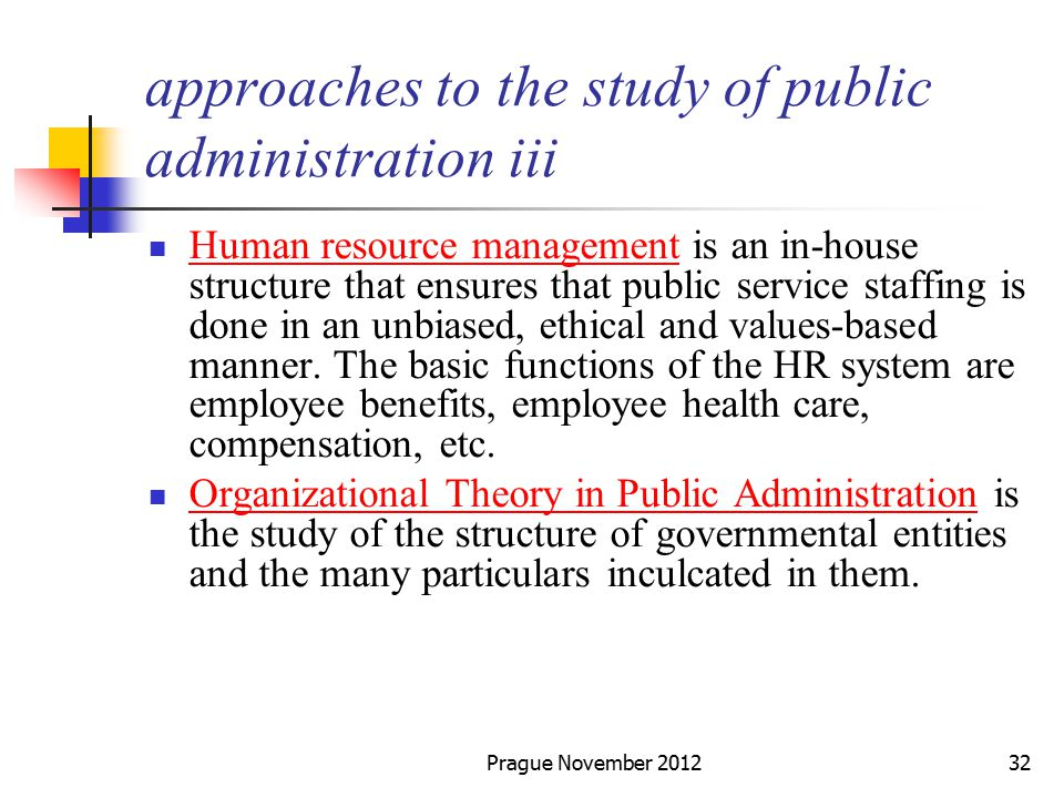 theories of organization in public administration