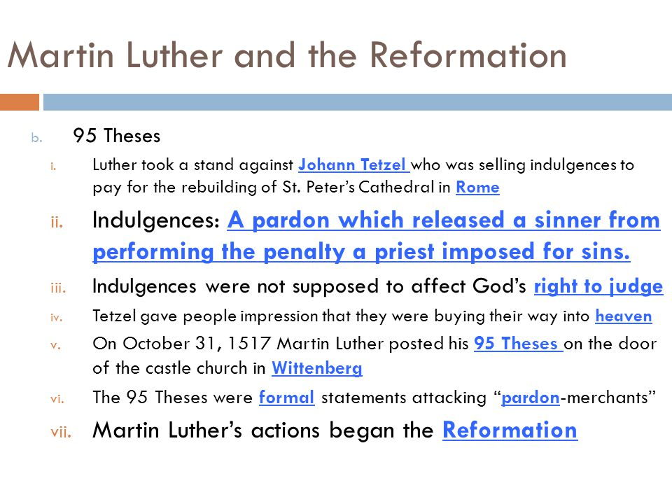 martin luther 95 theses worksheet What was martin luther's main goal when he nailed the 95 theses to the door of the church 2 why did the catholic church begin to lose power and influence during the renaissance.