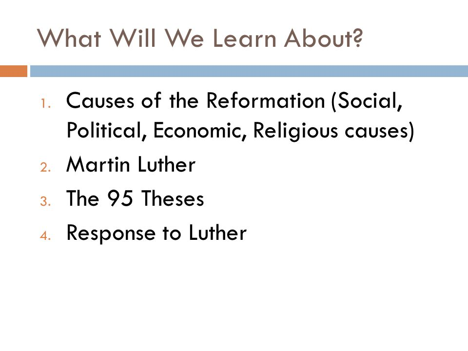 Outcome Martin Luther And The Reformation Ppt Video Online Download