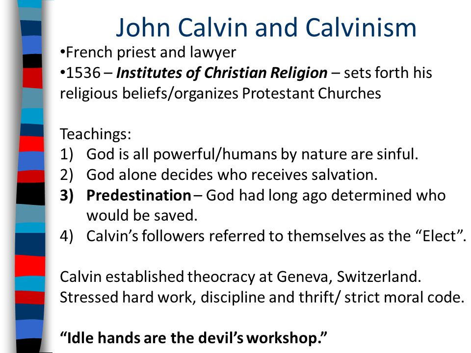 Unit 12: The Protestant Reformation (Cont'd) - ppt video