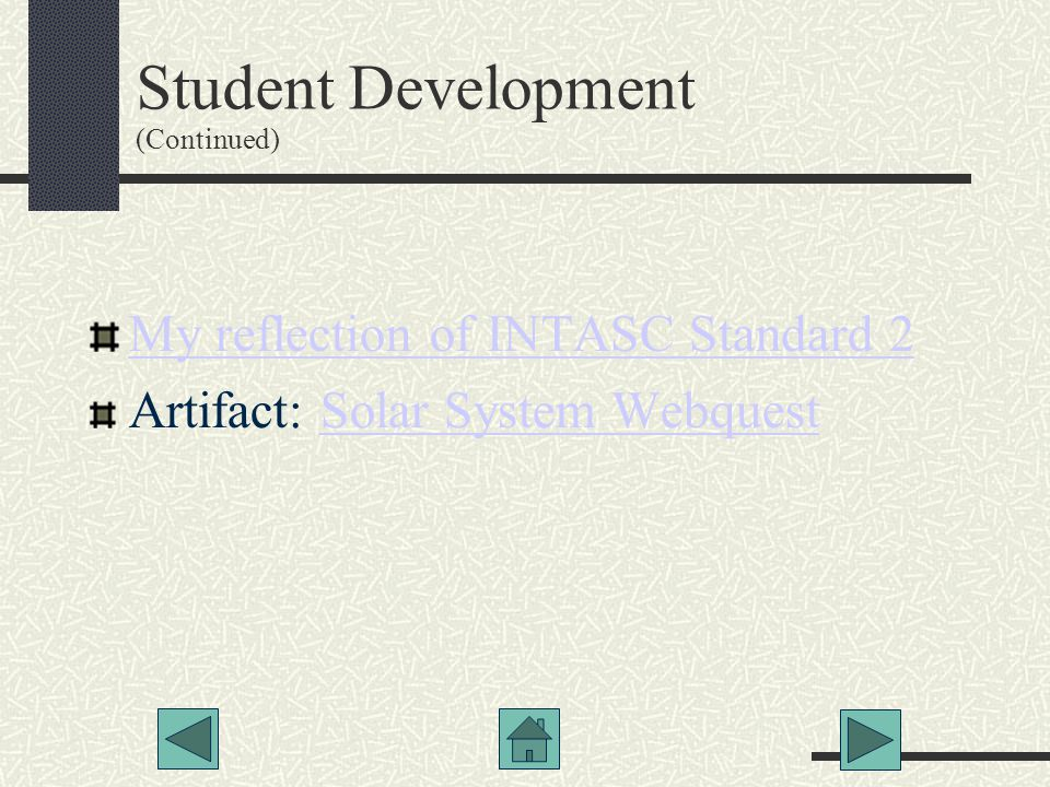 Student Development (Continued)‏