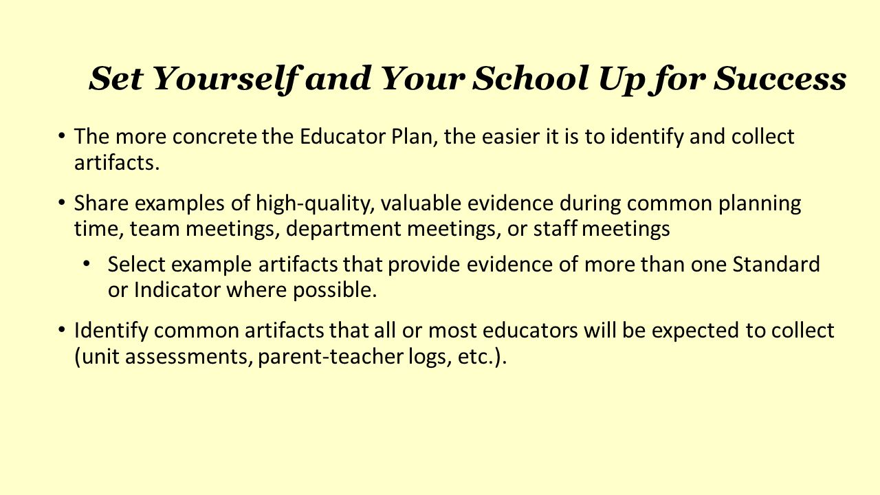 Set Yourself and Your School Up for Success
