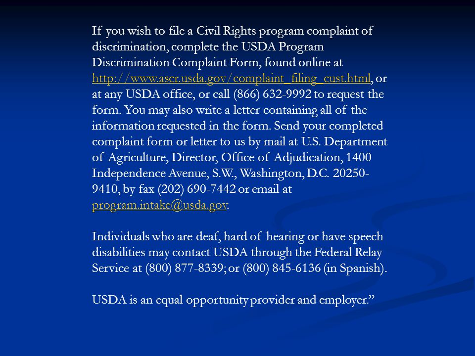 Civil Rights Training The North Carolina Department of Agriculture