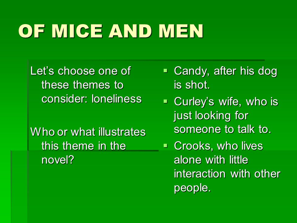 violence in of mice and me