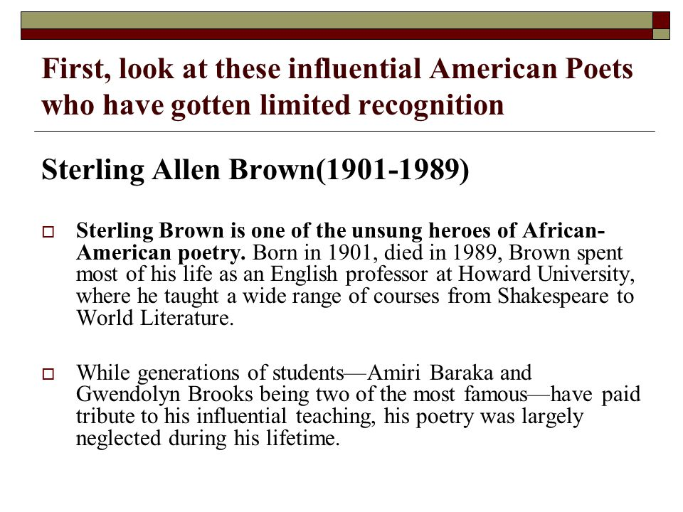 gwendolyn brooks famous poems