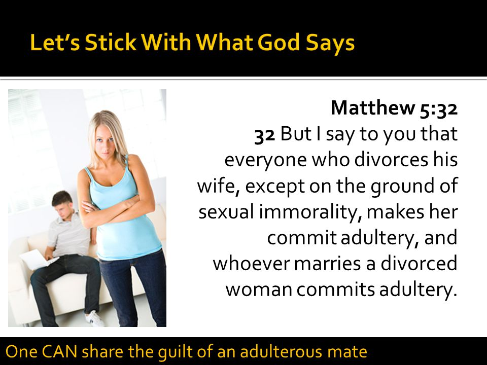 Let's Stick With What God Says