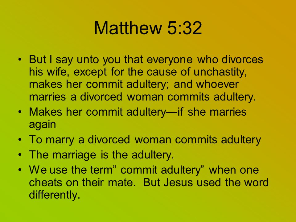 A adultery marrying divorced woman is Everything You