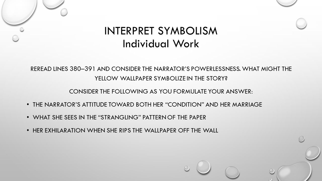 7 INTERPRET SYMBOLISM Individual Work