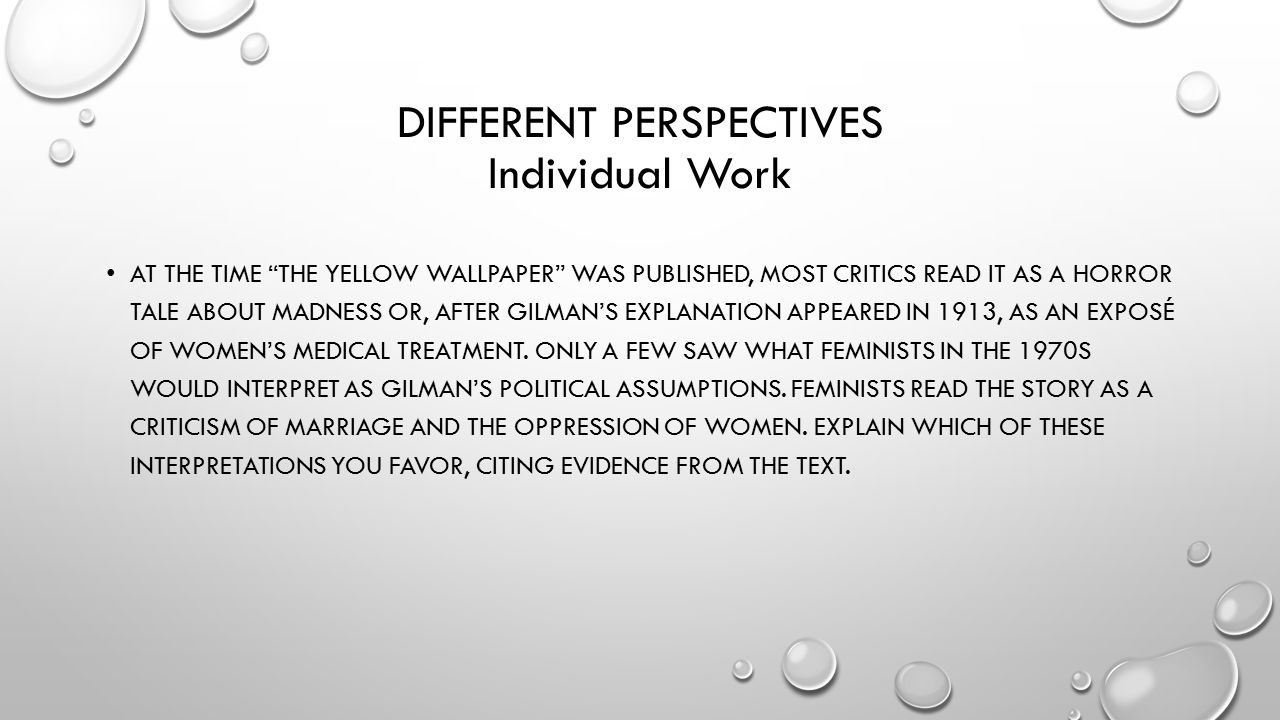 The Yellow Wallpaper Additional Questions Ppt Video