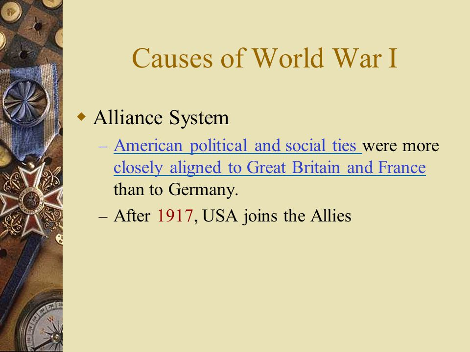 Causes of World War I Alliance System