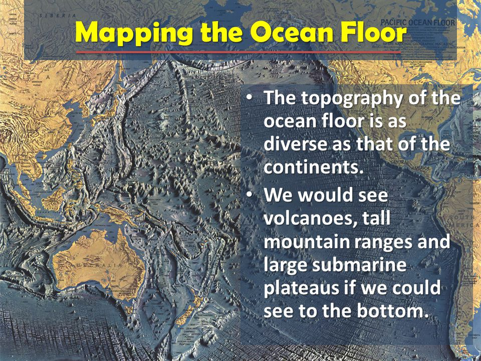 Topographic Map Of Ocean Floor.Chapter 14 The Ocean Floor Ppt Video Online Download