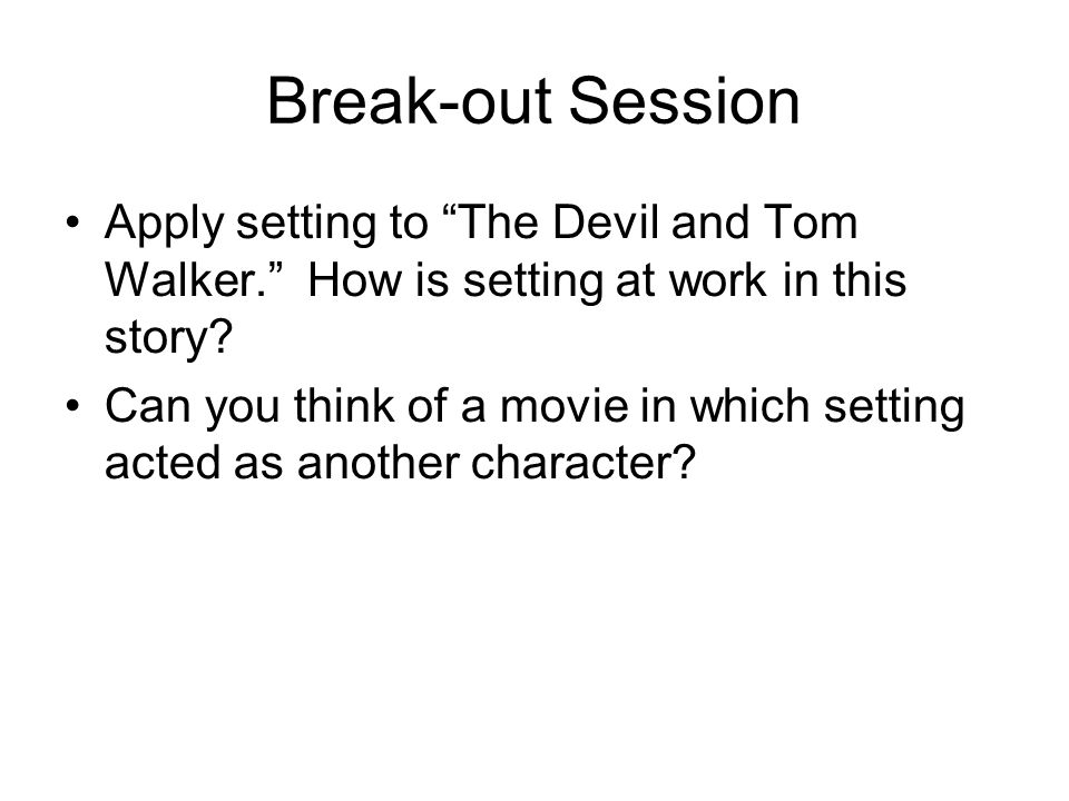 the devil and tom walker exposition