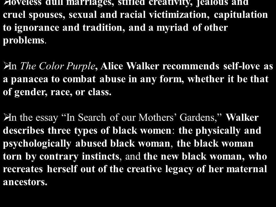 Alice Walker The Color Purple Ppt Video Online Download  Loveless