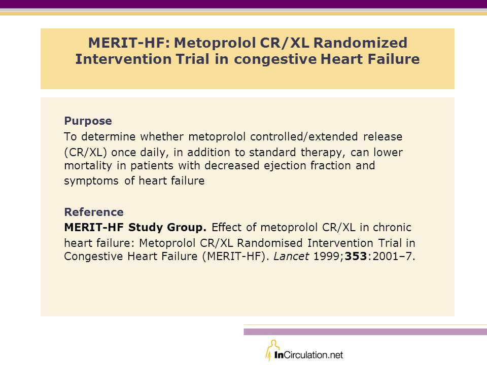 MERIT-HF: Metoprolol CR/XL Randomized Intervention Trial in congestive Heart Failure