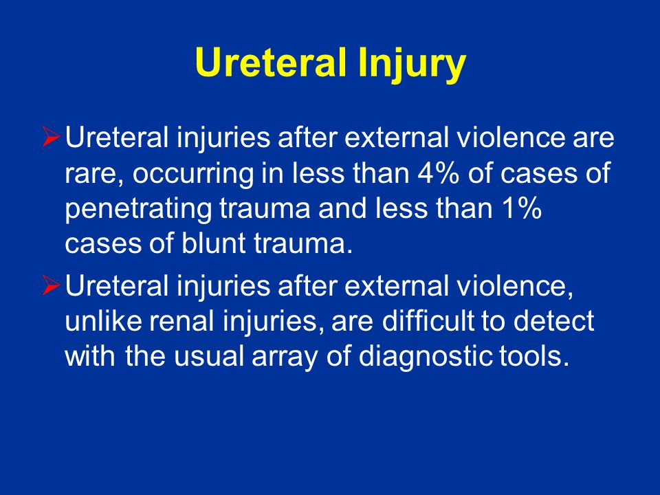 Ureteral Injury