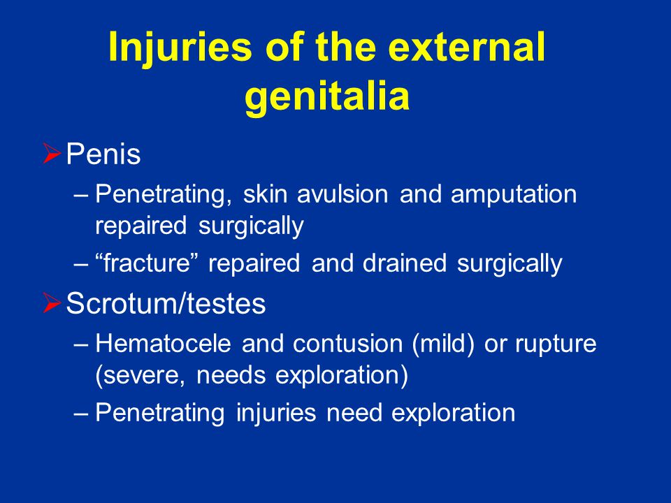 Injuries of the external genitalia